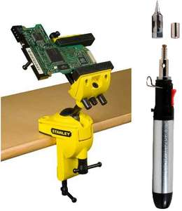 Stanley Multi-Angle Hobby Vice & GoSystem Cordless Soldering Pen £29 W/ Code @ B&Q (Free C&C)