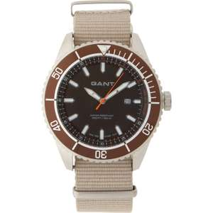 GANT Seabrook Beige Canvas Military/Divers Watch RRP £130.00 at TK Maxx for £40 (£1.99 C&C / £3.99 delivery)
