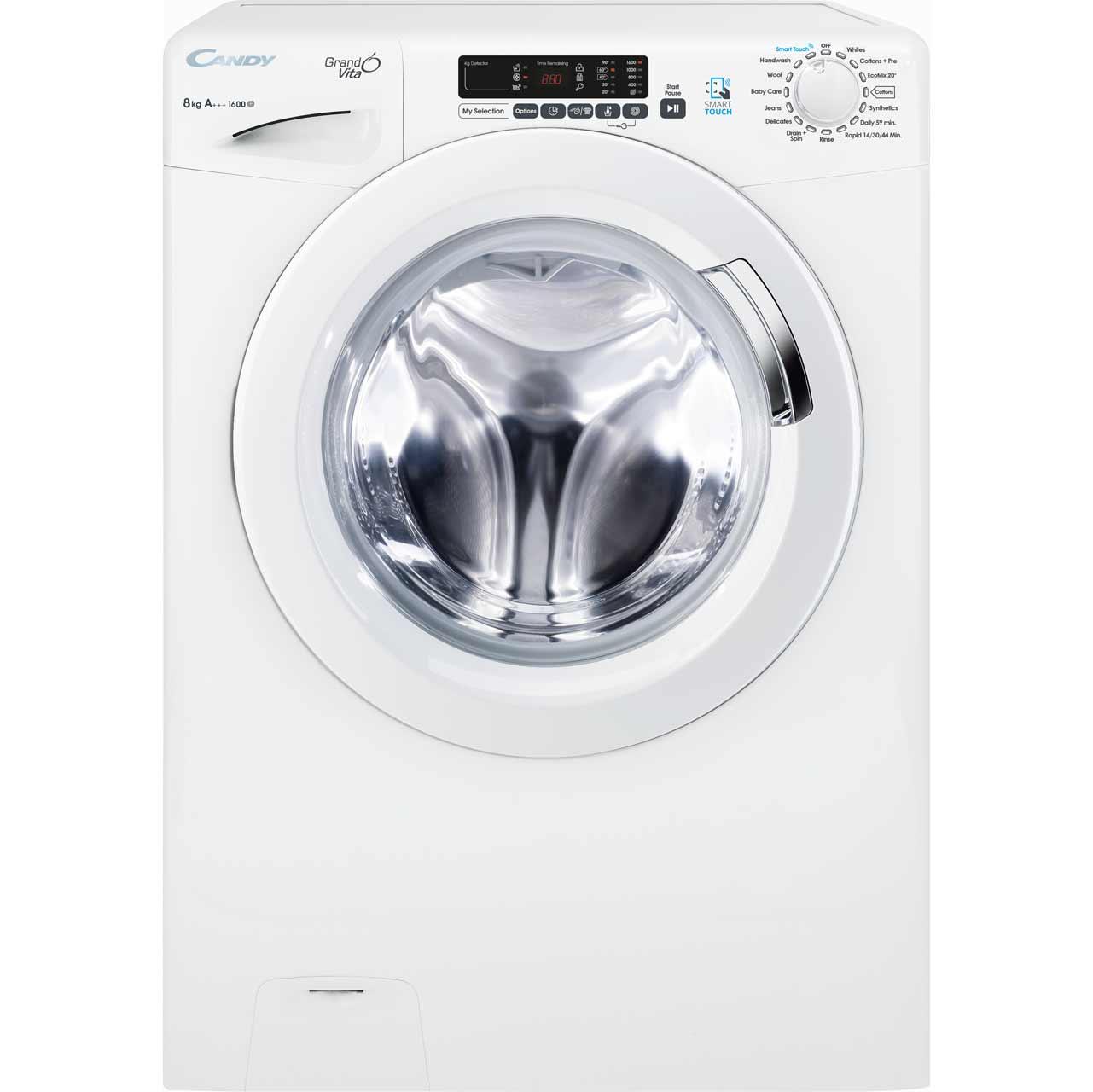 Candy Grand'O Vita GVS168D3 8Kg 1600rpm Washing Machine - White - A+++ Rated £209 / Candy GVS169DC3 9Kg 1600rpm £229 @ AO