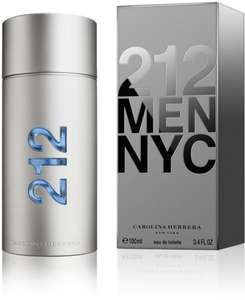 Carolina Herrera 212 Men 100ml EDT Spray £33.95 at Fragrance Direct (Free Del with Code)