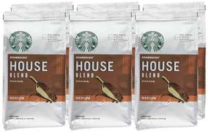 6 tall Latte's + Starbucks House Blend Ground Coffee 200 g (Pack of 6) £16.50 Prime / £20.99 Non Prime @ Amazon