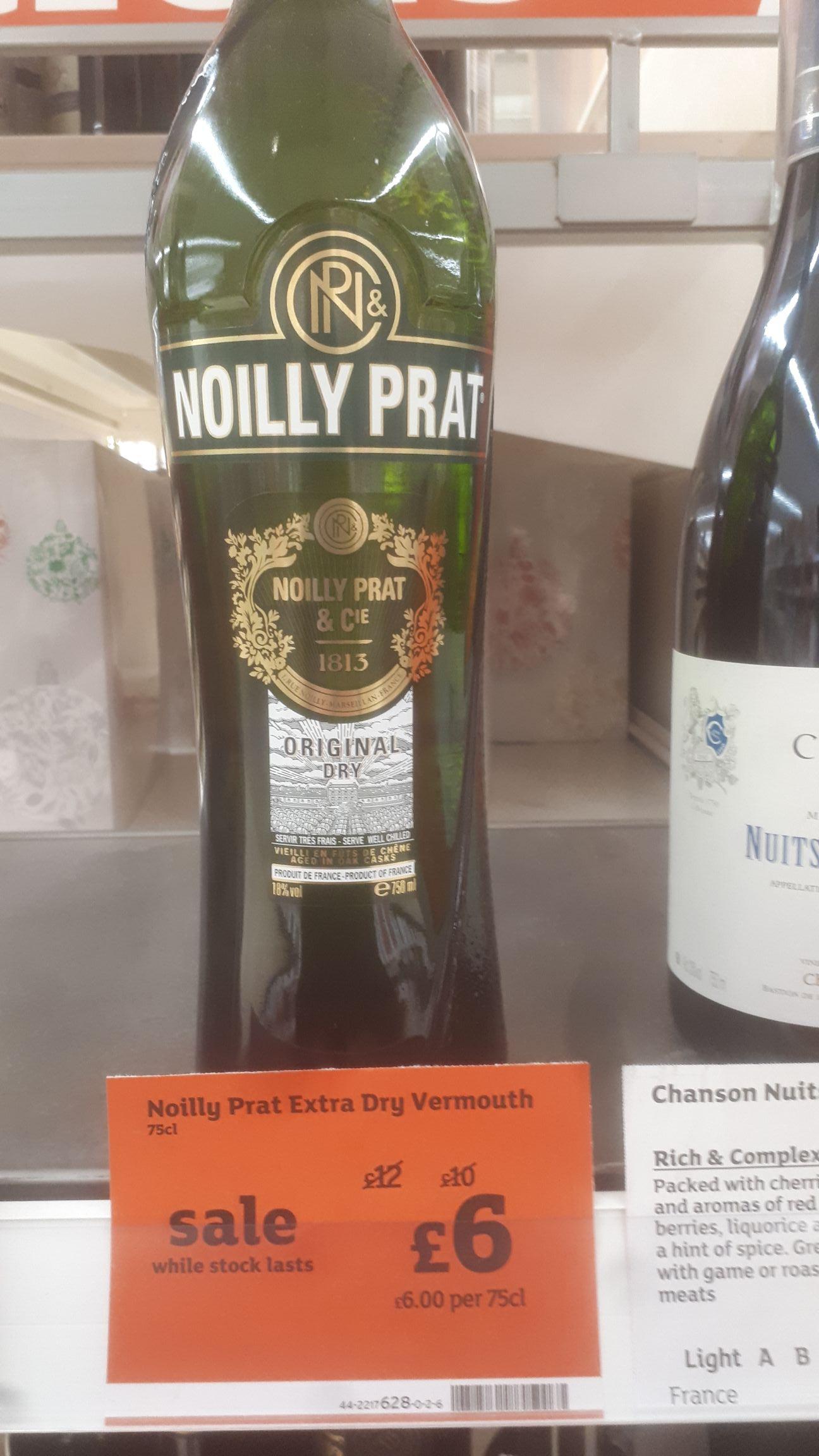 Noilly prat - £6 instore @ Sainsburys