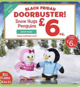 """Build a bear Black Friday deals buy one get one for £6 & special """"doorbuster"""" penguins £6 each"""