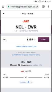 Newcastle/Belfast/Leeds to New York EWR on Jet2 £185