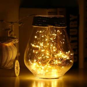 Utorch 10m 100 LED USB string fairy lights in warm white 98p Delivered w/code @ Dresslily