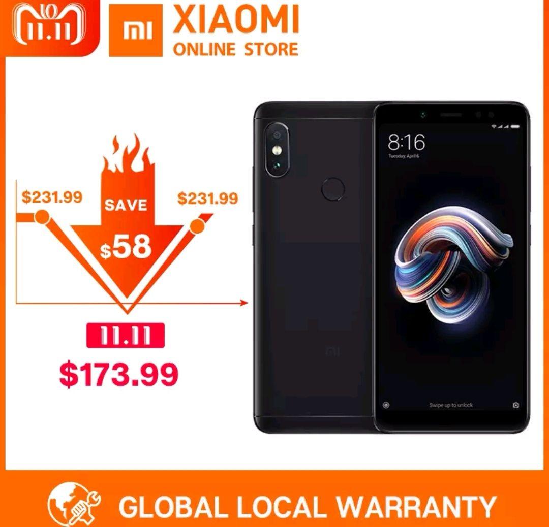 """Global Version Xiaomi Redmi Note 5 4GB 64GB 5.99"""" Full Screen Dual Camera Mobile Phone Note5 £135.21 @ Xiaomi Online Store Aliexpress"""