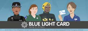 Blue Light Card £4.99 for a five-year membership.