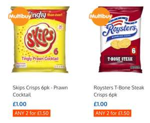 Frisps/Skips/Roysters/Space Raiders/KP Peanuts - Any 2 for £1.50 @ B&M
