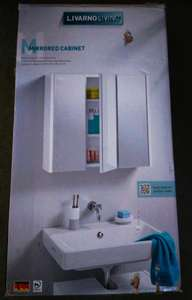Lidl Radcliffe, Lancashire, reduced to clear mirrored 3 door bathroom cabinet £15
