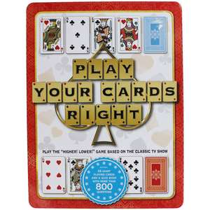 Play Your Cards Right 26 Giant Playing Cards & Quiz Book only £6.40 with Code Free C&C @ The Works