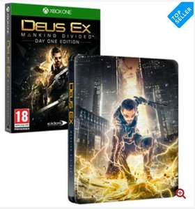 Deus Ex Mankind Divided Day One Edition Steelbook Xbox One Game for £7.14 Delivered @ 365games