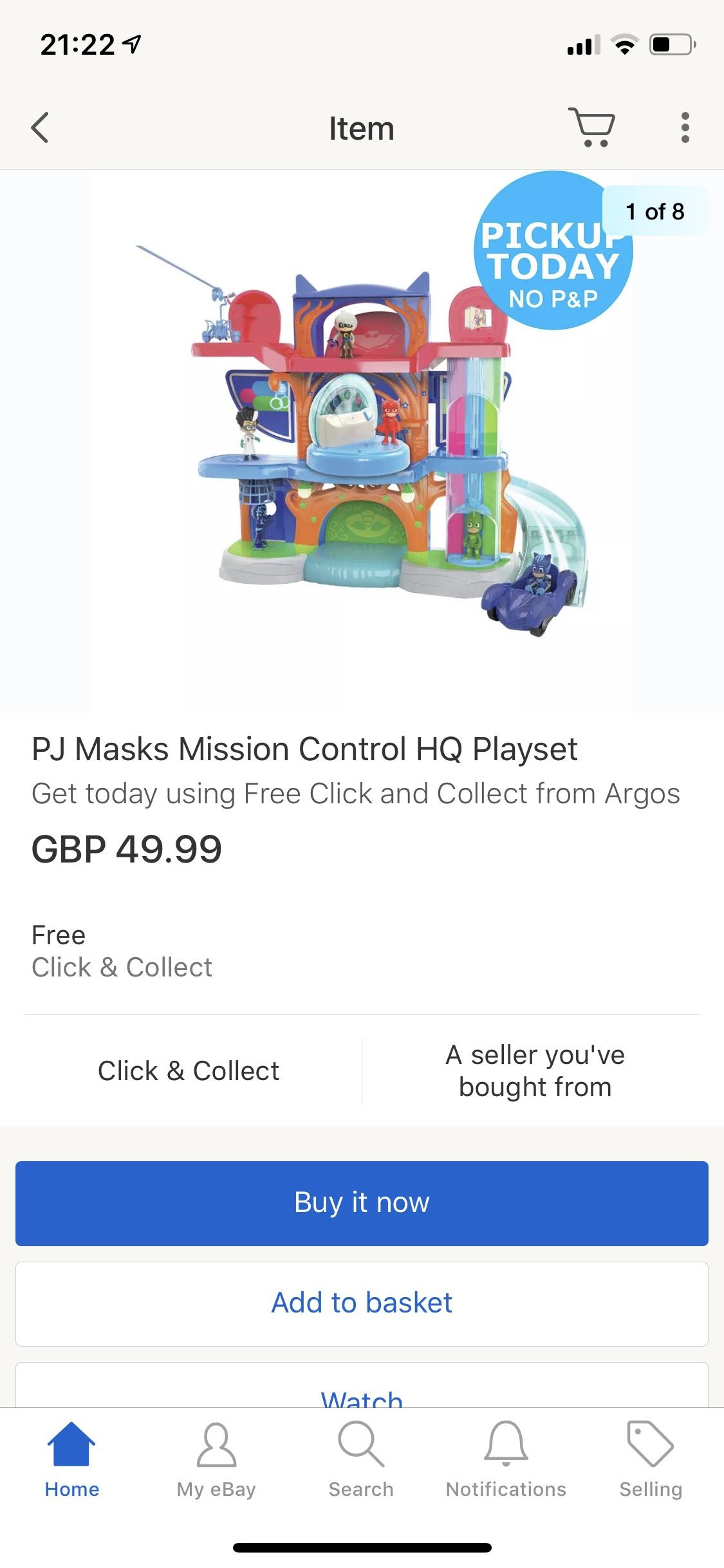 Pj mask deluxe headquarters - £49.99 @ Argos eBay Store
