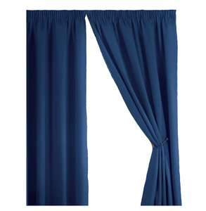 Simply Style Madison Blue Thermal Backed Readymade Curtain Pair 46x54in(116x137cm)  @Amazon Sold By 4yh Textiles £10.00