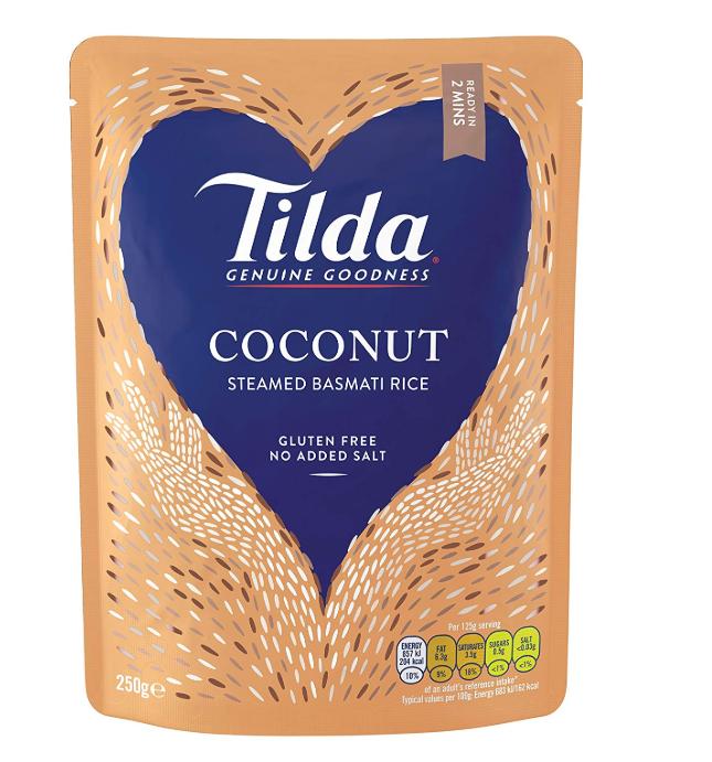Tilda Steamed Basmati Coconut 250 g (Pack of 6) @ Amazon Add On £4.50