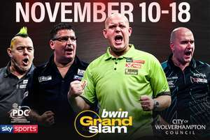 Grand Slam Darts from £12 for pdc darts - wolverhampton at Wowcher/PDC