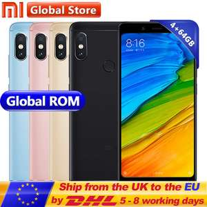 Xiaomi Redmi Note 5 4GB RAM 64GB GOLD @ £118.89 Potentially £105 with Quidco Sold By Mi Global Store on AliExpress