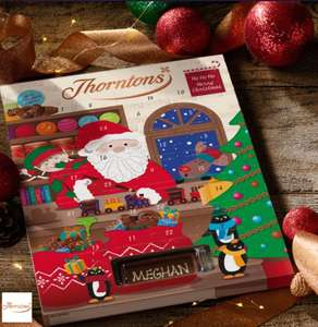 Free personalised Thorntons advent Calendar  / Free Futt socks / Free Scotch Tape 100m WHSmith @ O2 Priority