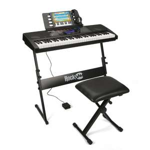 RockJam RJ761-SK Key Electronic Interactive Teaching Piano Keyboard with Stand, Stool, Sustain pedal & Headphones £74.99 @ Amazon