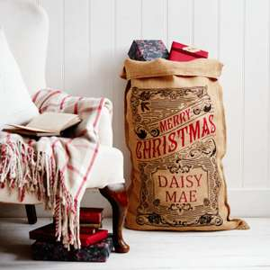 Hand made Personalised Christmas Sacks Children or Adult £22 > £12.50 delivered