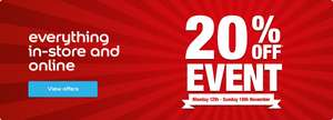 20% off all items at Dulux decorator centre (online/instore)
