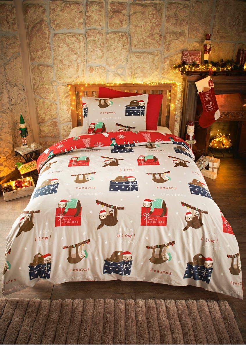 100% Cotton Llama & Sloth Reversible Christmas Bedding Set (was  £15) Now £11.25 C&C at Matalan