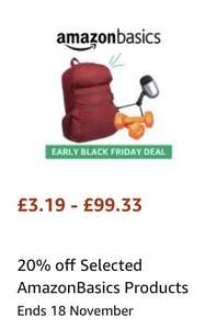 Amazonbasics 20% off on Selected Products