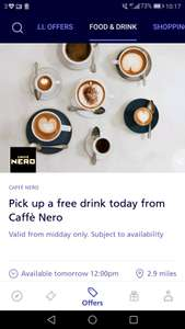 O2 Free coffee tomorrow (13th) from 12 noon at Caffe Nero