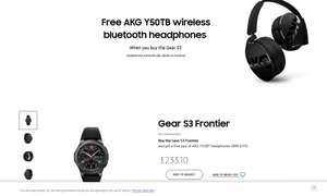 Samsung S3 Frontier £233.10 with free AKG Y50TB B/tooth phones £233.10 Samsung Store (Samsung Employees Program)