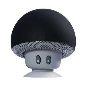Mini Mushroom Wireless Bluetooth Speaker with Mic Black £2.38 delivered w/code at Geekbuying