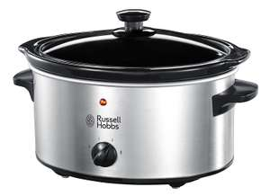 Russell Hobbs Slow Cooker 23200, 3.5 L - Stainless Steel Silver for £18.74 PRIME EXCLUSIVE Delivered @ Amazon UK