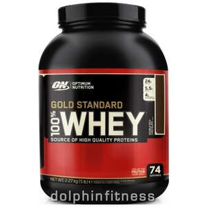 15% Off Optimum Nutrition Gold Standard Whey 5lb only £36.51 with code OPT @ Dolphin Fitness