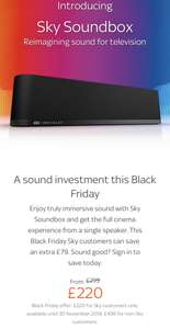 Sky Soundbox reduced to £220 for Sky customers