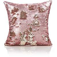 Pink & Gold 40 x 40 cms Swipe Sequin Cushion £5 @ Asda C+C
