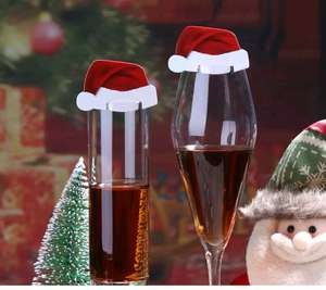 10pcs Santa Claus glass Hats 37p @ Aliexpress /  My Prettyhome Store