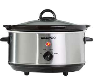 Daewoo 3.5L Slow Cooker - Stainless Steel- £13.49 + free C&C with code @ Robert Dyas