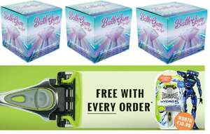 3 x Colour Changing Floating Bath Gem Spa Light + free Wilkinson Sword Razor for £10.99 W/C Delivered @ TheGiftandGadgetsStore