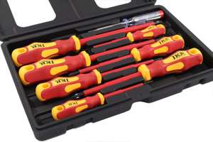 VDE Screwdriver Set 7 pcs plus Voltage Tester £11.53 (£4.49 postage non Prime) Sold by JKR Distribution Ltd and Fulfilled by Amazon