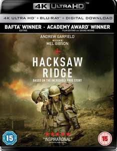 Hacksaw Ridge 4k UHD Blu-Ray - £9.99 HMV Pure members (or with any other purchase for non-members) @ HMV