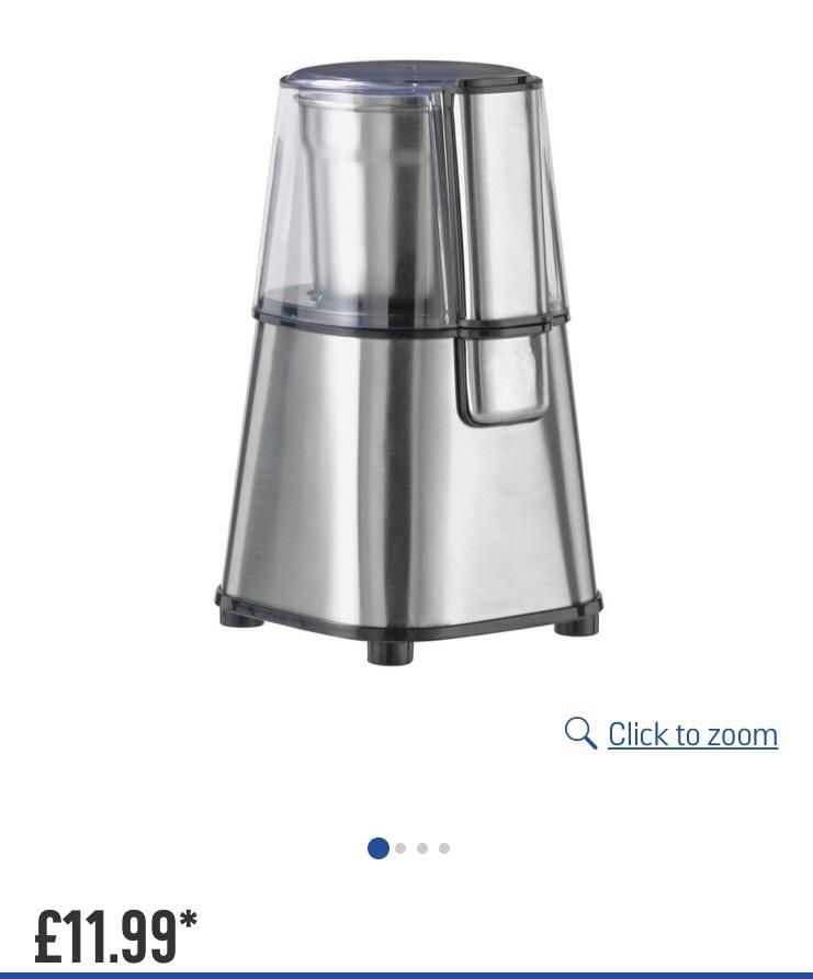 Cookworks Coffee and Herb Grinder - Stainless Steel £11.99 Argos