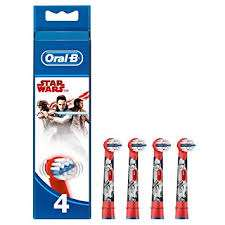Oral B Stages Kids starwars Replacement Toothbrush Heads Pack of 4  £7.48 (Prime) / £11.97 (non Prime) Amazon