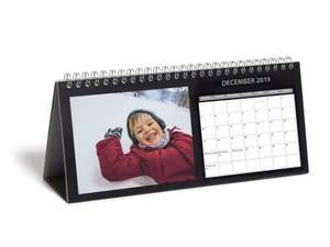 Free personalised Desk Calendar with code + £4.99 Delivery at Photobox