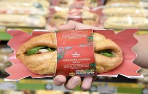 Christmas Yorkshire pudding sandwich wrap £3 at Morrisons. Also part of the £3.50 meal deal too!