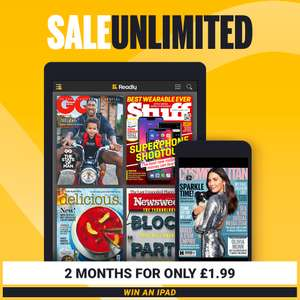 Two months Readly for £1.99 - unlimited access to 3000+ magazines