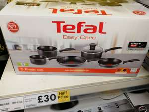 Tefal easy care 5 piece set half price now £30 instore @ tesco