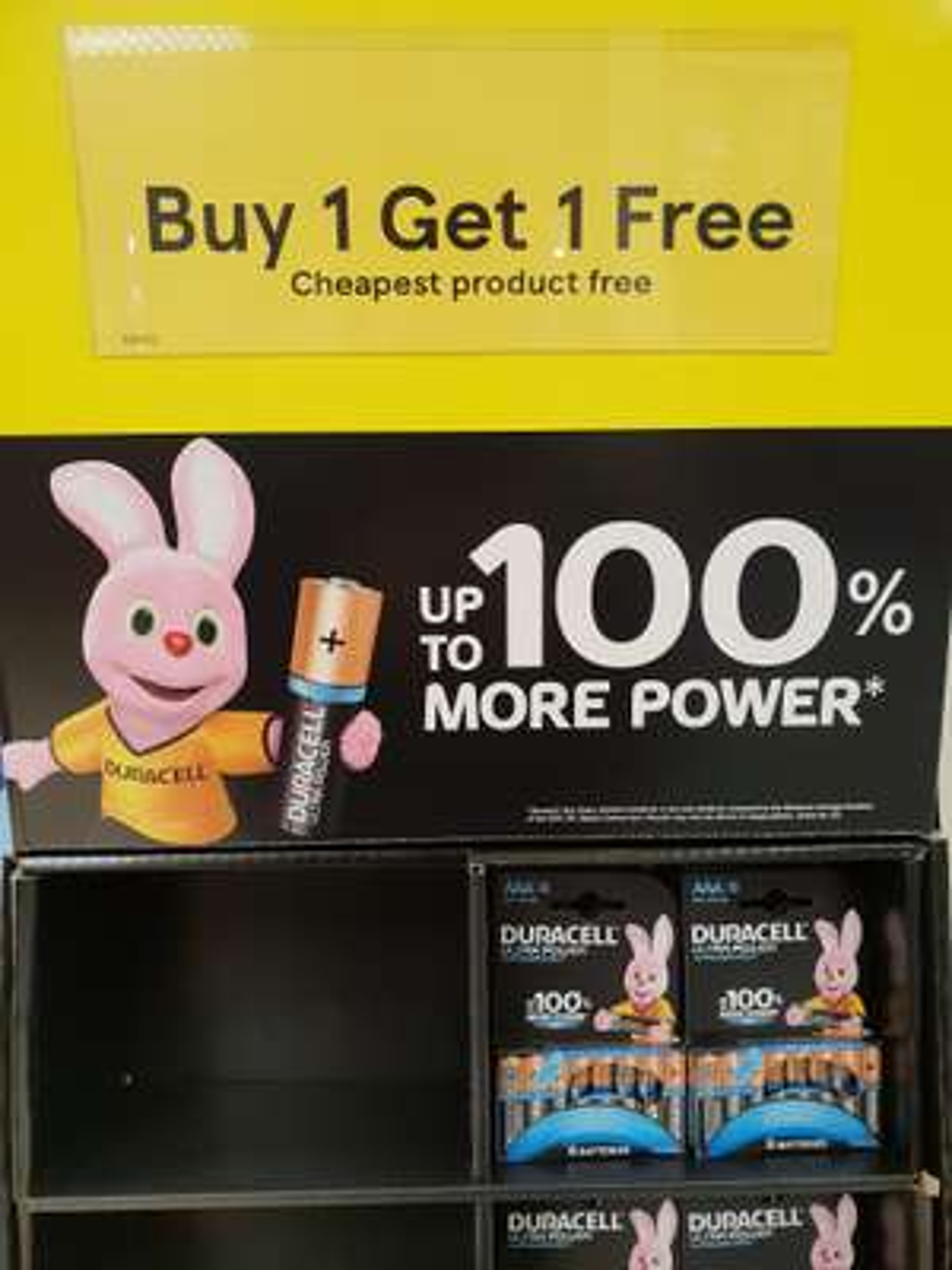 BOGOF on 8 pack Duracell batteries - AA or AAA - Tesco in store - Aylesbury. - £8.50