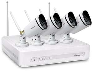 Foscam FN3104W Complete 4 Camera Wi-Fi CCTV Kit £249.99 @ Box.co.uk