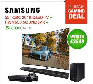 Samsung QE55Q8CNA HDR TV  + Samsung HWN650 Sound bar + XBOX One X for £1,541 at PRC Direct