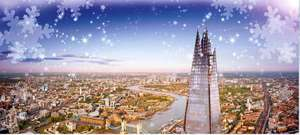 View from the Shard Christmas Event early access with breakfast, goodies, prizes and surprises now £19.95pp 22nd December @ Little Bird