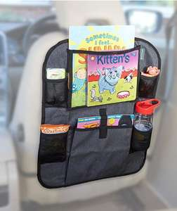 """Kid Transit Car Seat Organiser (Grey, 10"""") £14.99 prime / £19.48 non prime Sold by Kid Transit and Fulfilled by Amazon"""