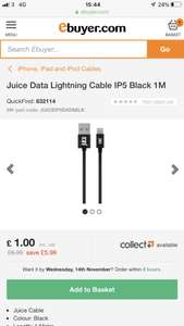 iPhone juice usb charger cable £1 / £4.98 delivered @ Ebuyer